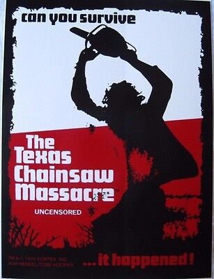 Texas Chainsaw Massacre  Sticker Decal Leather Face Horror  Can You Survive