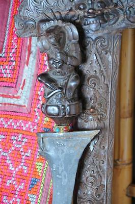 Old Javanese Kris Dagger in Carved Wooden Sheath…  wonderful patina...