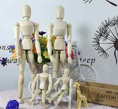 Artists Wooden Movable Manikin Blockhead Jointed Mannequin Puppet Drawing Sketch