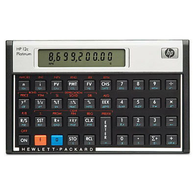 NEW HP 12c Platinum Financial Calculator