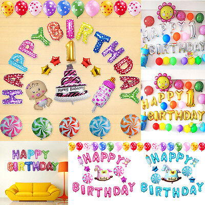 """16 Inch """"HAPPY BIRTHDAY"""" Letters 13 Pcs Foil Balloons Birthday Party Decoration"""