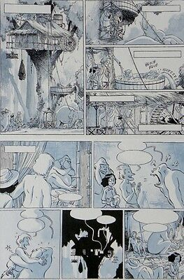 Johnny Jungle – page 15 – JOUVRAY /PLANCHE ORIGINALE  +CRAYONNE