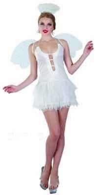 Sweida's Womens Christmas Snow Angel Costume Fancy Dress Up Party - Large