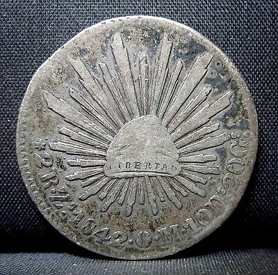 1842 Mexico 2 Real ✪ Fine F ✪ Mo City Reale L@@k Now 10D 20G Silver ◢Trusted◣