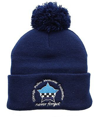 CPD Memorial Navy Knit Cap with Pom and Cuff