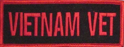 Vietnam Vet Embroidered Military Motorcycle Biker Mc Vest Iron/Sew On Patch L-24