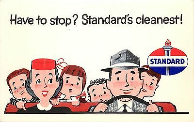 Automotive Advertising Postcard; Rest Stop? Standard Service Station is Cleanest