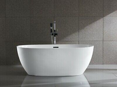 Bathroom Acrylic Free Standing Bath Tub 1600 x 780 x 580 - FREESTANDING