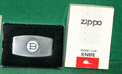 Vintage ZIPPO Money Clip Pocket Knife - B Quality Containers - New in the Box