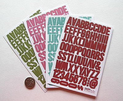 Scrapbooking No 307 - Over 200 Small Die Cut Alphabet Stickers - Sale To Clear
