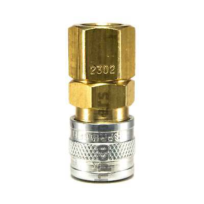 "Foster 2302 1/8"" Female Npt X 1/8"" Industrial Coupler Brass Nipple Air Fitting"