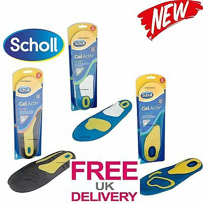 SCHOLL  INSOLES Technology GEL ACTIVE WORK SPORT EVRYDAY MEN WOMEN Size 5-8-13UK