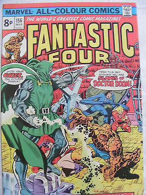 Fantastic Four # 156 Mar 1975 Marvel Comics Bronze Age Pence Copy Dr Doom!