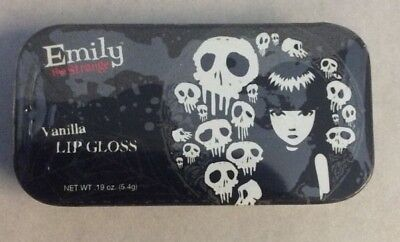 Emily the Strange Vanilla Lip Gloss Tin .19 oz / 5.4 Boston America