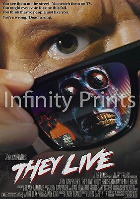 They Live Movie Film Poster A2 A3 A4