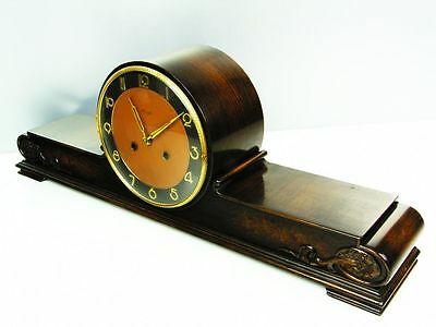 A Big Pure  Art Deco  Kienzle  Chiming Mantel Clock With Pendulum Germany