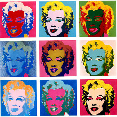 Andy Warhol Marilyn Monroe  canvas print giclee 8X8&12X12 reproduction