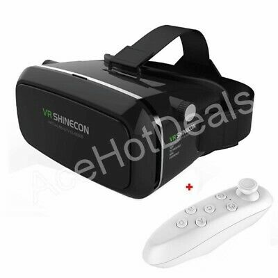 VR Shinecon Virtual Reality 3D Movie Game Glasses+ Bluetooth Remote Control
