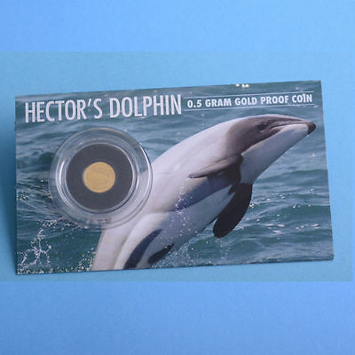 New Zealand: 2016 Hector's Dolphin Gold Proof $1 Dollar Coin ! Sold Out!!!!