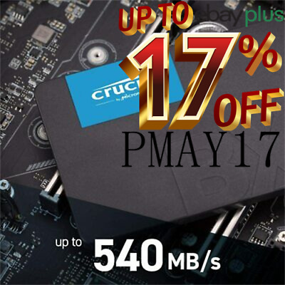 "Crucial MX500 Series 250GB 2.5"" SATA3 7mm Internal Solid State Drive SSD 560MB/s"
