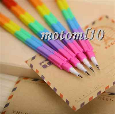 4Pcs New Style 8 Colors Pencil Stacker Swap Building Block For Kid's Best Gift C