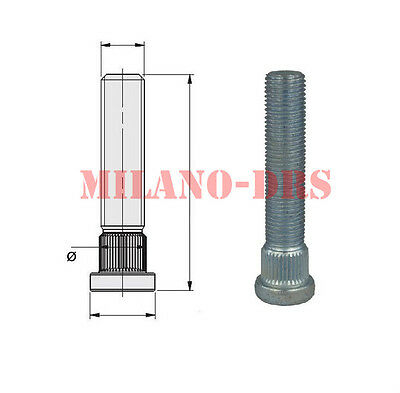 COLONNETTA PIANTAGGIO M12x1,50 L=67mm DIAMETRO 14,30mm Zigrino