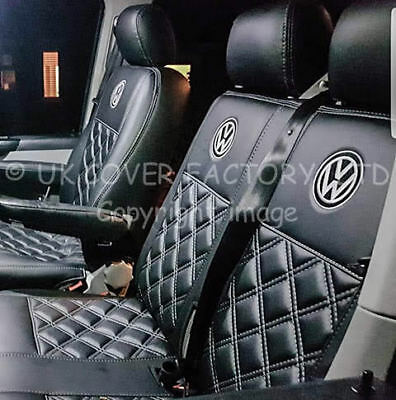 Vw Transporter T5 Van Seat Covers With  Vw Badge   Bentley  A150A