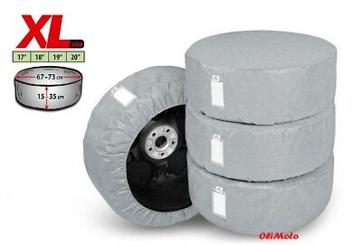 "Set of 4 Protective Covers For Spare Wheels And Tyres 17"" 18"" 19"" 20"""