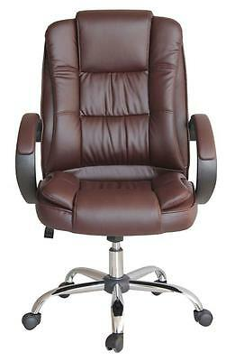 High Back Executive Swivel Computer Office Brown Chair