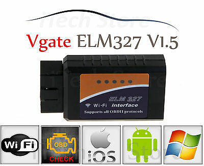 ELM327 WiFi OBD2 OBDII Auto Diagnose Interface Scanner iOS Android Smartphone PC