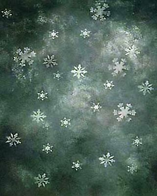 Xmas/Winter Scenic 10'x20' Muslin Hand-Painted Photo Backdrop Background 33-379