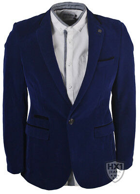 Mens Branded MD Smart Royal Blue Velvet Blazer Sizes 36-48 Inch Chest