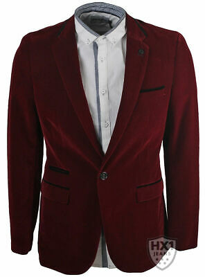 Mens Branded MD Smart Deep Red Velvet Blazer Sizes 36-48 Inch Chest