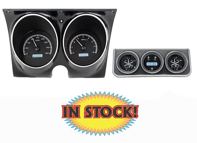 Dakota Digital 1967 Camaro Console Gauge System - Black/White VHX-67C-CAC-K-W
