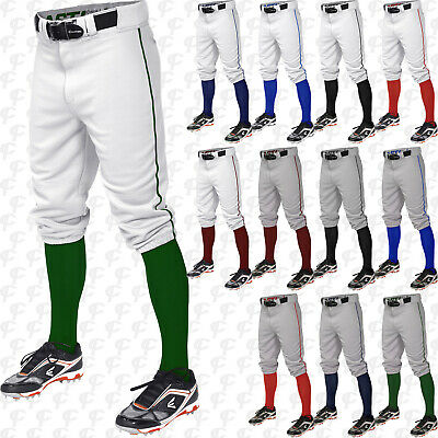 01cf35f2bd4427 Easton Pro + Knicker Style Adult Men s Piped Braided Baseball Pants A167105