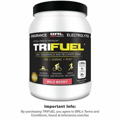 TRIFUEL 3-in-1 Endurance and Recovery Drink - Wild Berry - OFFICIAL LISTING