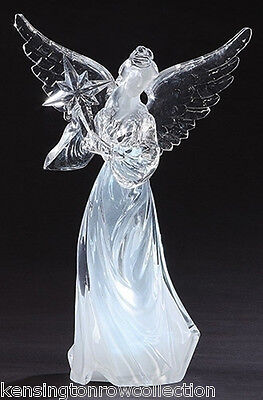 "Christmas Decorations - Lighted Acrylic Star Light Angel - Led Angel - 10.5""h"