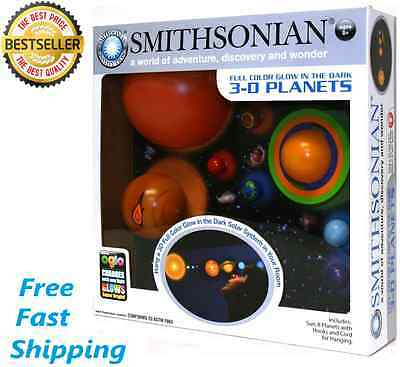 NEW 3D Hanging Solar System Model Glowing Student Kids Dorm Room Home Gift Toy