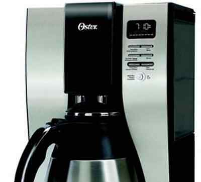 Oster stainless steel programmable coffee maker-10 cup capacity-brew timer