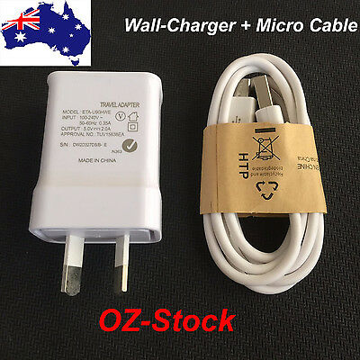 AU USB 2A AC Wall travel adapter Charger data for samsung s4 S5 S6 S7 Note 3 4 5