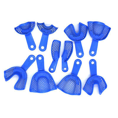 10pcs/1Kit Dental Autoclavable Stainless Steel Impression Tray Bite Hot Sale New
