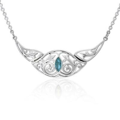 Celtic Knotwork .925 Sterling Silver Necklace Choice of Gemstone Peter Stone