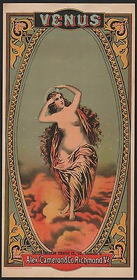 Etikett für Tabak - Venus / tobacco caddy label - Chromolitho ca.1880