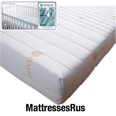 BABY COT TENCIL MATTRESS WITH WASHABLE  ZIP COVER IN  7.5CM and 10CM  DEPTH