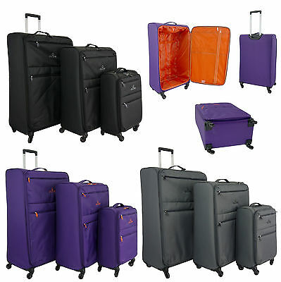 Lightweight Worlds Lightest 4 Wheel Spinner Suitcase Trolley Cases Luggage Set