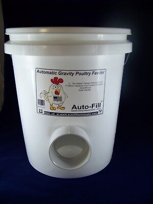 """2 Pack  -   """"NO   WASTE""""    Automatic Chicken Hanging Gravity Feeder 5 Gallon"""