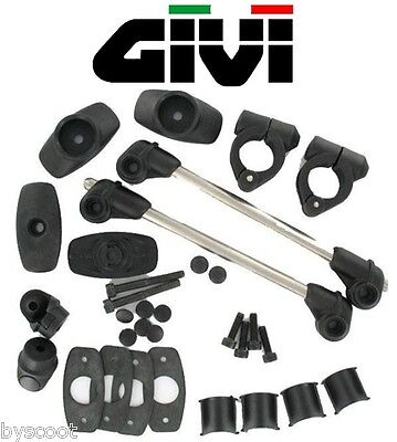 Kit fixation pour pare-brise bulle GIVI D40 2 points tige colliers A600 à A605