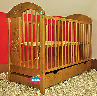 Baby Cotbed, 6 colours- Bear with baloon + drawer + mattress NEW!!