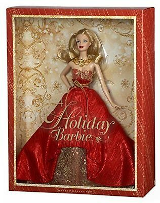 2014 HOLIDAY BARBIE doll NEW complete mattel BLONDE new in sealed box christmas