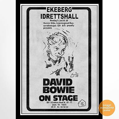 David Bowie Concert Poster Oslo, Norway 1978.